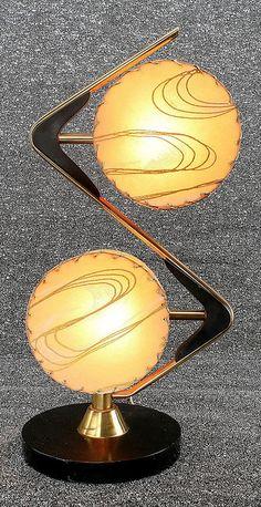 Zig-zag style 50s lamp