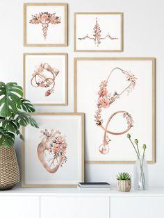 Law Office Decor, Doctors Office Decor, Medical Office Decor, Doctor Office, Office Gifts, Flower Prints, Flower Art, Medical Art, Medical Doctor