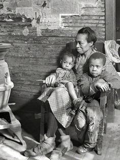 "+~+~ Vintage Photograph ~+~+   March 1937. Scott's Run, West Virginia. ""Johnson family -- father unemployed."" Photograph by Lewis Hine"