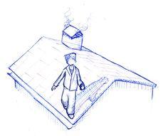 Van een leien dakje lopen
