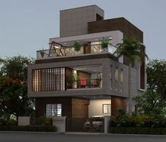 House front design - 80 House With Balcony In Front Indian Home Design, Indian House Exterior Design, House Front Design, Modern House Design, Indian Architecture, Modern Architecture, Drawing Architecture, Bungalow Haus Design, Small Bungalow