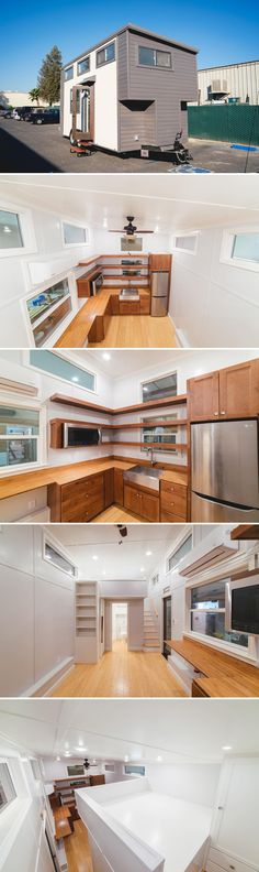 From California Tiny House is this custom 10'x20' tiny home. The extra width creates a spacious living room, kitchen, and queen bedroom loft.