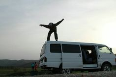 Traveling on mazda in Russia