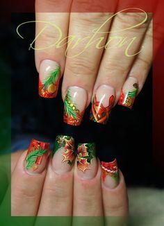 christmas nail art gallery nailartgallerynailsmagcom by wwwnailsmagcom - Christmas Nail Art Gallery