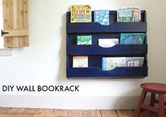 DIY Wall Bookrack (via Bloglovin.com )