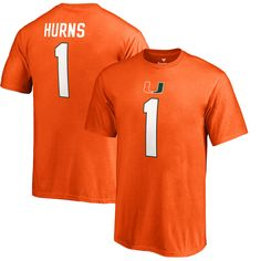 Allen Hurns Miami Hurricanes Fanatics Branded Youth College Legends T-Shirt - Orange