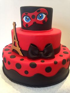 Amazing Image of Ladybug Birthday Cakes . Ladybug Birthday Cakes Neguita Neguits Ladybugs In 201 Bolo Lady Bug, Bug Birthday Cakes, Frozen Birthday, Bolo Fack, Miraculous Ladybug Party, Ladybug Cakes, Pinterest Cake, Superhero Cake, Birthday Cake Decorating