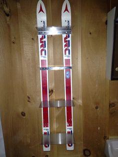 Ski shelves for bathroom. Homemade with stainless steel shelves