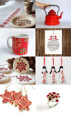 Christmas in Red by Luisa Lavado on Etsy--Pinned with TreasuryPin.com #PTteamEtsy #ChristmasColorsProject #EtsyEurope #Portugal