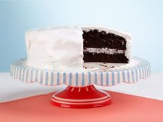 Chocolate Cake with Divinity Icing. Tricia Yearwood's grandfather's recipe. Looks like a giant oreo, so, I'm sold.