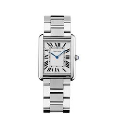 Tank solo watch, large model - Timepieces Quartz, steel - Fine Timepieces for men and for women - Cartier