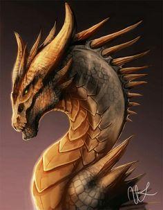 Bronze Dragon by magmi Mythological Creatures, Fantasy Creatures, Mythical Creatures, Fantasy Dragon, Fantasy Art, Dragon Sketch, Bronze Dragon, Dragon's Lair, Dragon Artwork