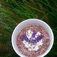 acai coconut chia pudding for breakfast today topped with coconut and lavender  happy humpday!! #breakfast #healthybreakfast #acai #acaibowl #chia #chiapudding #healthyfood #fitnessfood #bbg #lowcarb #healthy #cleaneating #wholefoods #realfood #primal #paleo #paleofood #paleolifestyle #grainfree #glutenfree #dairyfree #nutfree #sugarfree #refinedsugarfree #iqs #instafood #foodporn #foodlove #foodie #yummy by paleojasmin