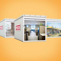 Business Self Storage Pods Moving, Packing Supplies, Container Architecture, Moving And Storage, Self Storage, How To Level Ground, Storage Solutions, Bathroom Medicine Cabinet, Commercial