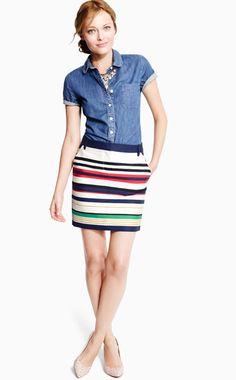J Crew Lookbook Классная юбка. Туфли бы цветные и пару браслетов