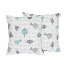 Decorative Accent Throw Pillows for the Earth and Sky Collection by Sweet Jojo Designs, Multi