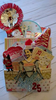 Loaded bag created by Brenda Enright using Character Constructions Doll Stamps by Catherine Moore.