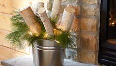 Turn your yard into a winter wonderland this holiday season with these fun DIY ideas. Diy Projects On A Budget, Cool Diy Projects, Diy Cans, Nature Decor, Winter Holidays, Easy Diy, Candles, Table Decorations, Outdoor Decor