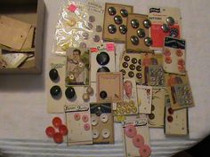 'Very Old Vintage Buttons' is going up for auction at 10pm Sun, May 19 with a starting bid of $5.