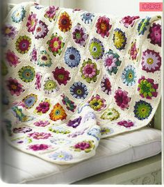 crochet beauty flowers blanket, crochet pattern | make handmade, crochet, craft