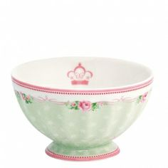 New GreenGate Stoneware  French Bowl Amelie White Medium D 10 cm