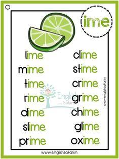 Phonics words list - Magic E/Silent E/Bossy E words