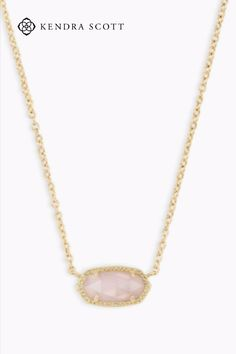 A dainty stone and delicate metallic chain combine to create the Elisa Pendant Necklace in Gold, your new favorite wear-anywhere accessory. This pendant necklace can be paired with any ensemble, giving you extra class and style.