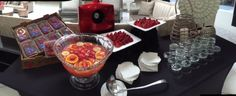 Guests enjoyed sampling strawberries from Plant City.
