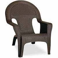 Resin Wicker Lounge Chairs wilson & fisher® charleston resin wicker 4-piece seating set at