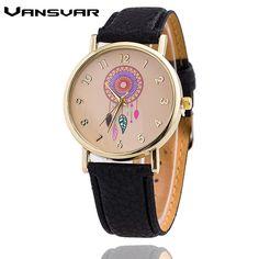 Vansvar Brand Women Fashion Dreamcatcher Watch Ladies Quarzt Watches relogio feminino 1635