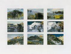 Gerhard Richter -overpainted photographs    https://www.gerhard-richter.com/en/art/atlas/paint-overs-12049