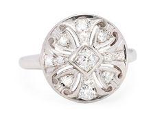 Token of Luck: Diamond Vintage Ring