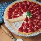 Strawberry Rhubarb Ice Cream Pie