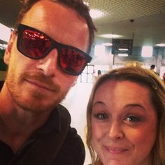 """I bumped into Michael Fassbender at Biaritz airport, he looks as excited to meet me as I do him right?"""