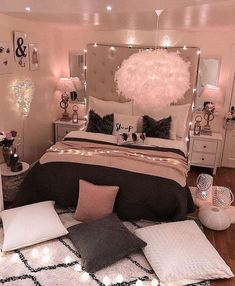 bedroom decorating ideas for teen girls decoration - dream bedroom decor tips to produce a super comfortable teen girl bedrooms. Bedroom Decor Suggestion tip posted on 20190219 Cute Bedroom Ideas, Girl Bedroom Designs, Room Ideas Bedroom, Dream Bedroom, Teen Room Designs, Budget Bedroom, Design Bedroom, Child's Room, Bath Room
