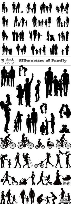 Vectors - Silhouettes of Family
