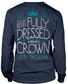 Love this. Zeta Tau Alpha Crown T-shirt for Bid Day or Recruitment.