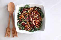 Baby Kale and Roasted Sweet Potato Salad with Pomegranate and Toasted Pine Nuts by Tasty Yummies, via Flickr