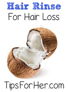 Hair Rinse for Hair Loss - Home remedy to help strengthen and revitalize hair. Promote healthy hair growth and help to reduce hair loss.