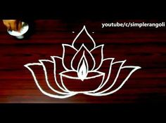deepam rangoli designs with dots, diya kolam designs for friday, deepam muggulu designs with dots - YouTube