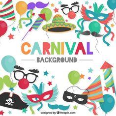 Coloré carnaval fond Vecteur gratuit