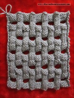 Openwork Basket Weave Knitting Pattern