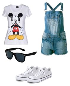 """Casual Day"" by mitchieanne21 on Polyvore featuring Disney, Sally&Circle and Converse"