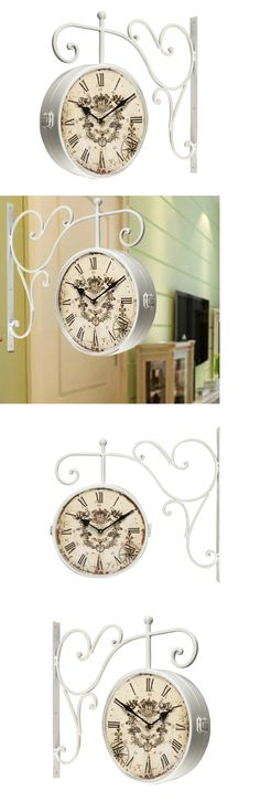 wall clocks roman numeral wall clock train station double sided indoor outdoor