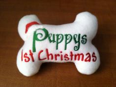 Personalized Ornament Puppy's First Christmas by makeyourdogsmile ...
