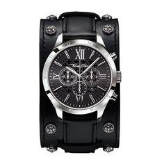 Thomas Sabo Black Leather Cuff Watch £398