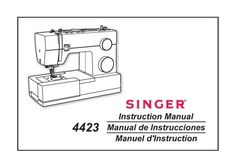 Singer 4423 Sewing Machine Manual.  Examples of what's included in this manual:  * Threading machine. * Winding the bobbin. * Raising bobbin thread. * Adjusting thread tension. * Stitch selection. * Changing needles. * Troubleshooting guide. * Much more!  59 pages of great information.  Multi-language manual.