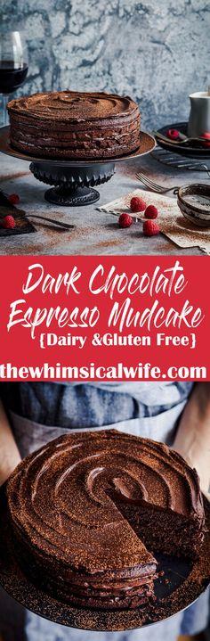 Dark Chocolate Espresso Mudcake {Gluten & Dairy Free} | The Whimsical Wife