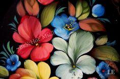 Zhostovo tray Flower garden by SoapandZostovo on Etsy