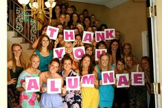 A great tactic for any sorority to thank their alumnae for all their generous donations. This is a great public relations move.